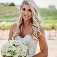 Way To Wear Hair With A Strapless Wedding Dress